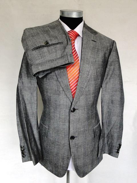 hugo boss anzug pasolini movie einreiher grau kariert schurwolle gr 50 ebay. Black Bedroom Furniture Sets. Home Design Ideas