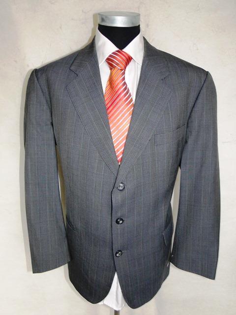 eduard dressler anzug original einreiher grau kariert schurwolle gr 50 ebay. Black Bedroom Furniture Sets. Home Design Ideas
