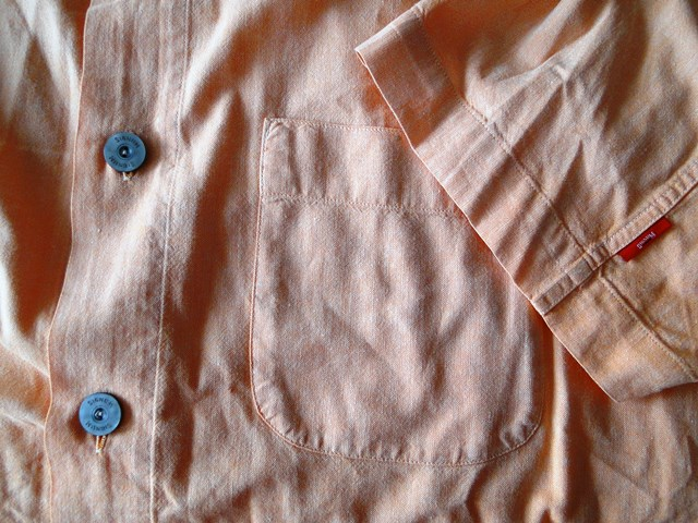 Signum Herren Hemd Kurzarm Orange Strukturiert Baumwolle Gr. L TOP ... d19db085af