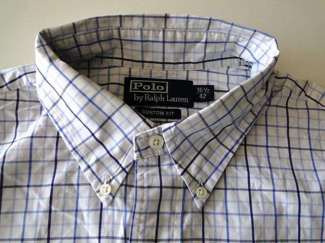 ralph lauren custom fit herren hemd langarm wei blau. Black Bedroom Furniture Sets. Home Design Ideas