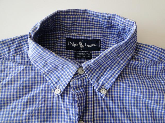 details about ralph lauren yarmouth herren hemd langarm blau kariert. Black Bedroom Furniture Sets. Home Design Ideas