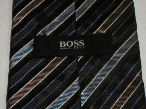 hugo boss krawatte schlips blau gestreift seide 150 cm top. Black Bedroom Furniture Sets. Home Design Ideas