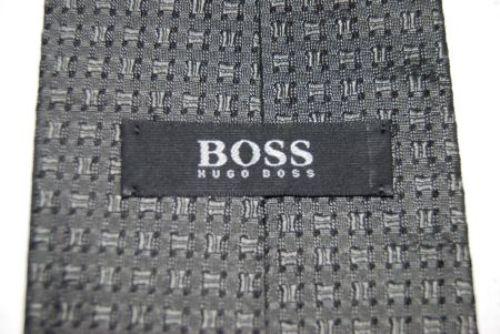 hugo boss krawatte schlips grau dezent gemustert seide 144. Black Bedroom Furniture Sets. Home Design Ideas