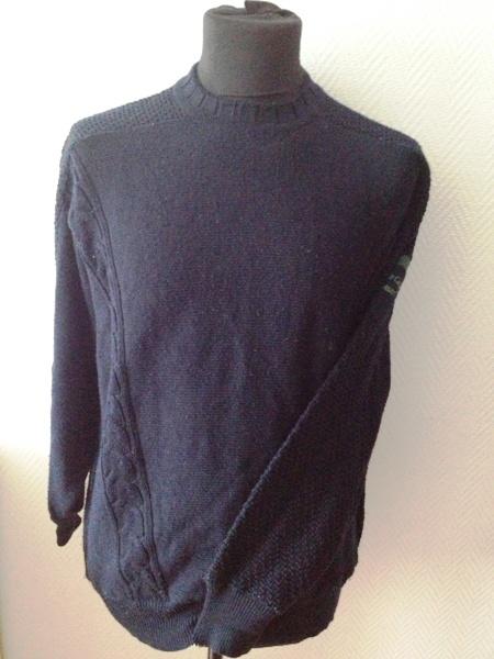 carlo colucci pullover pulli herren langarm dunkelblau. Black Bedroom Furniture Sets. Home Design Ideas