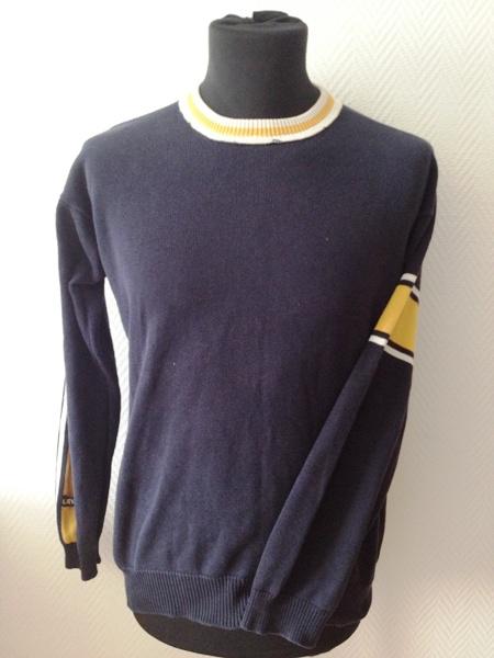 levis sweater pullover herren langarm dunkelblau unifarben baumwolle gr m ebay. Black Bedroom Furniture Sets. Home Design Ideas