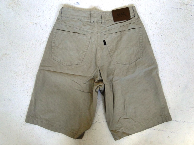 mac jeans herren shorts kurze hose beige unifarben gr 38 top ebay. Black Bedroom Furniture Sets. Home Design Ideas
