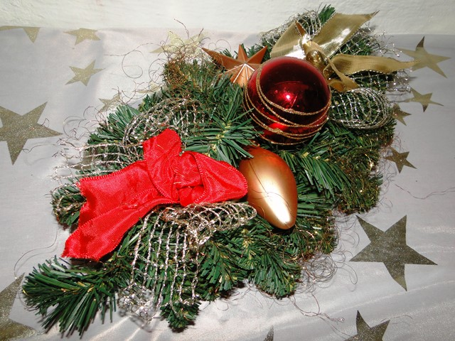 3x Weihnachtsgesteck Adventsgesteck Tisch Wand Gesteck