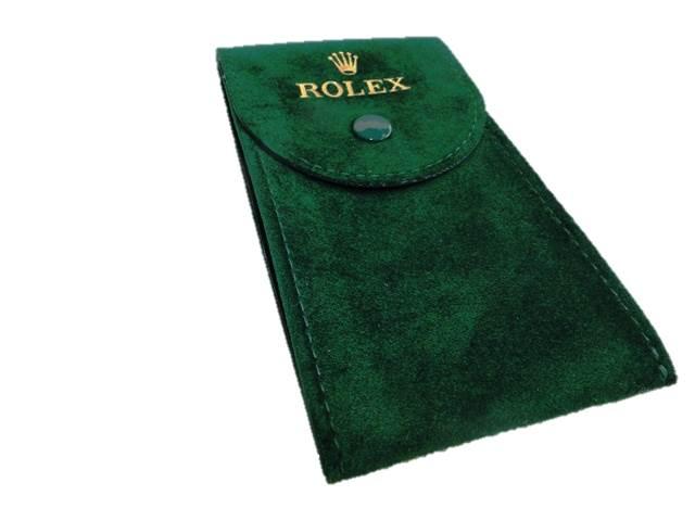 rolex luxus etui uhren schmuck samth lle samt tasche gr n neu ebay. Black Bedroom Furniture Sets. Home Design Ideas