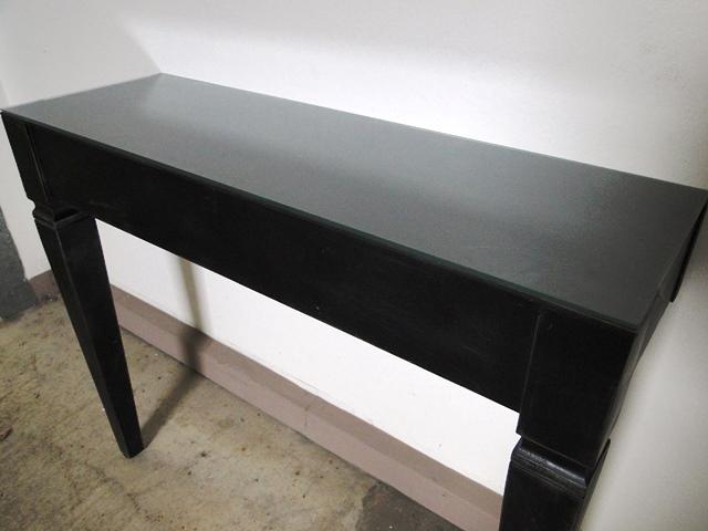 Art Deco Konsolen-Tisch Beistelltisch Wandtisch Holz (matt) Schwarz ...