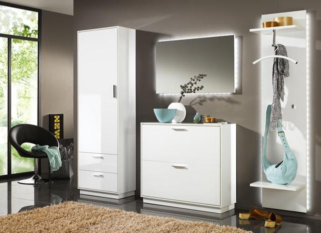 elegance garderobenschrank kommode sideboard schrank wei hochglanz neu. Black Bedroom Furniture Sets. Home Design Ideas