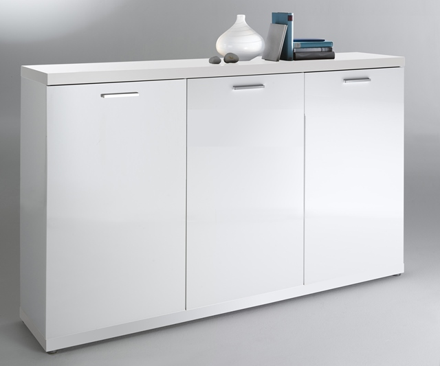 elegance kommode space sideboard highboard schrank anrichte wei hochglanz neu ebay. Black Bedroom Furniture Sets. Home Design Ideas
