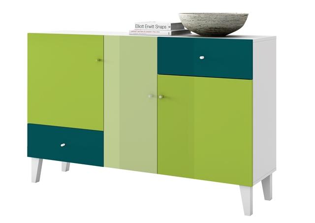 Elegance kommode colore bunt sideboard highboard schrank for Sideboard 1m breit