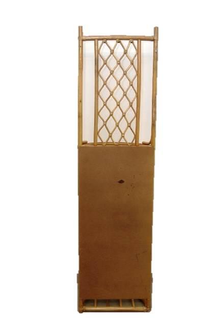 rattan garderobe wandregal kleideraufhang spiegel schrank landhaus braun. Black Bedroom Furniture Sets. Home Design Ideas