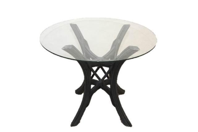 rattan tisch couchtisch gartentisch beistelltisch rund. Black Bedroom Furniture Sets. Home Design Ideas