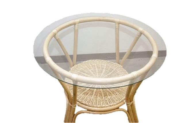 rattan tisch couchtisch gartentisch beistelltisch rund braun ma32 ebay. Black Bedroom Furniture Sets. Home Design Ideas