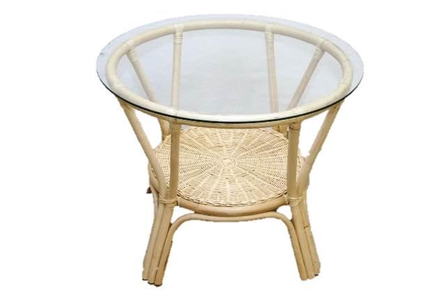 rattan tisch couchtisch gartentisch beistelltisch rund braun ma33 ebay. Black Bedroom Furniture Sets. Home Design Ideas