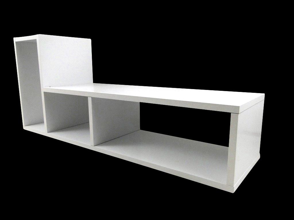 temahome domino regal b cherregal raumteiler holz wei matt neu ebay. Black Bedroom Furniture Sets. Home Design Ideas