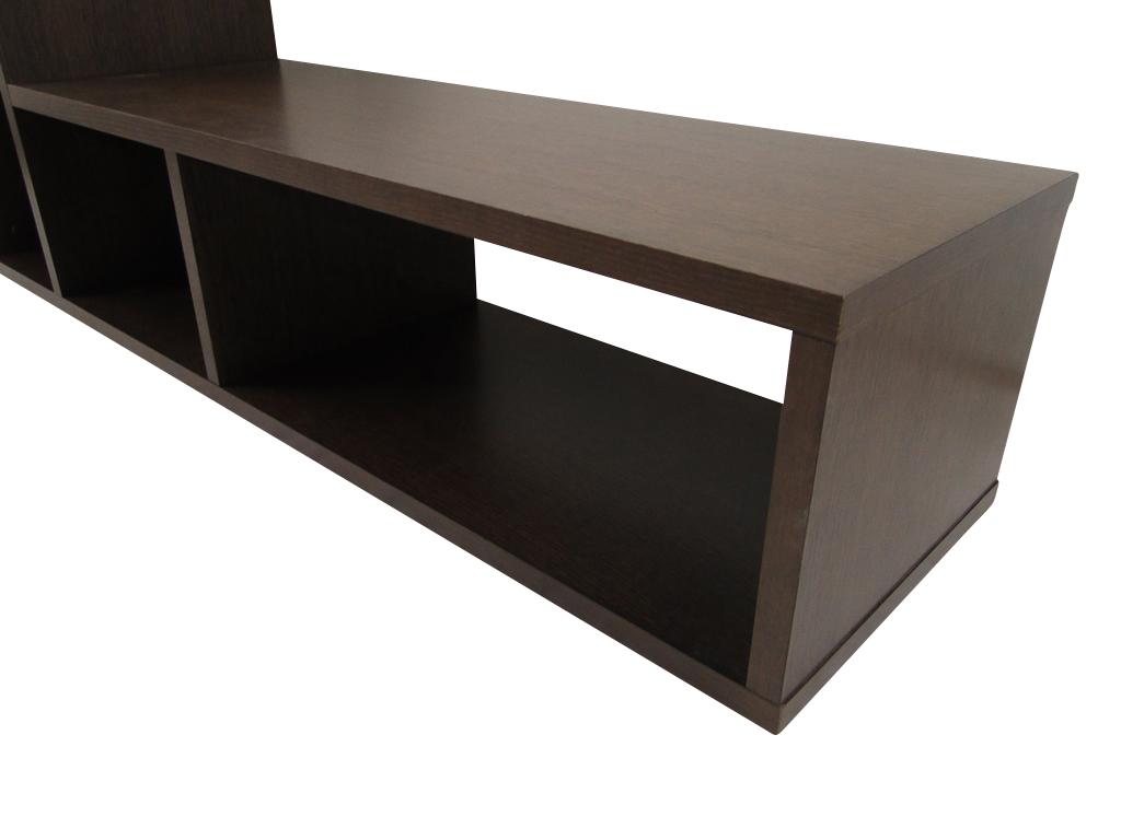 temahome domino regal b cherregal raumteiler holz braun schoko neu ebay. Black Bedroom Furniture Sets. Home Design Ideas