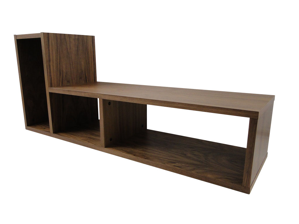 temahome domino regal b cherregal raumteiler holz braun. Black Bedroom Furniture Sets. Home Design Ideas
