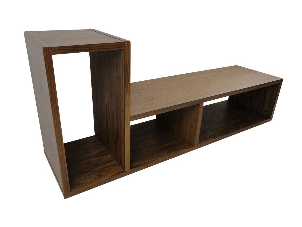 temahome domino regal b cherregal raumteiler holz braun nussbaum neu ebay. Black Bedroom Furniture Sets. Home Design Ideas