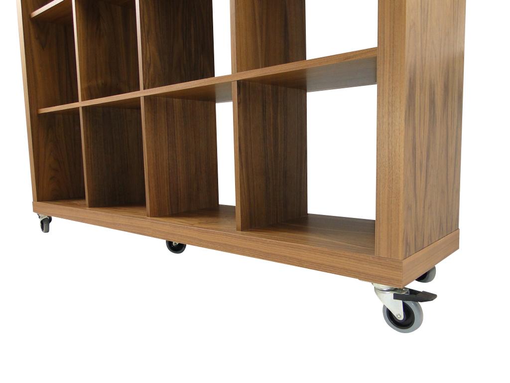 temahome rolly 4x4 regal rollregal rollenregal raumteiler holz nussbaum neu ebay. Black Bedroom Furniture Sets. Home Design Ideas