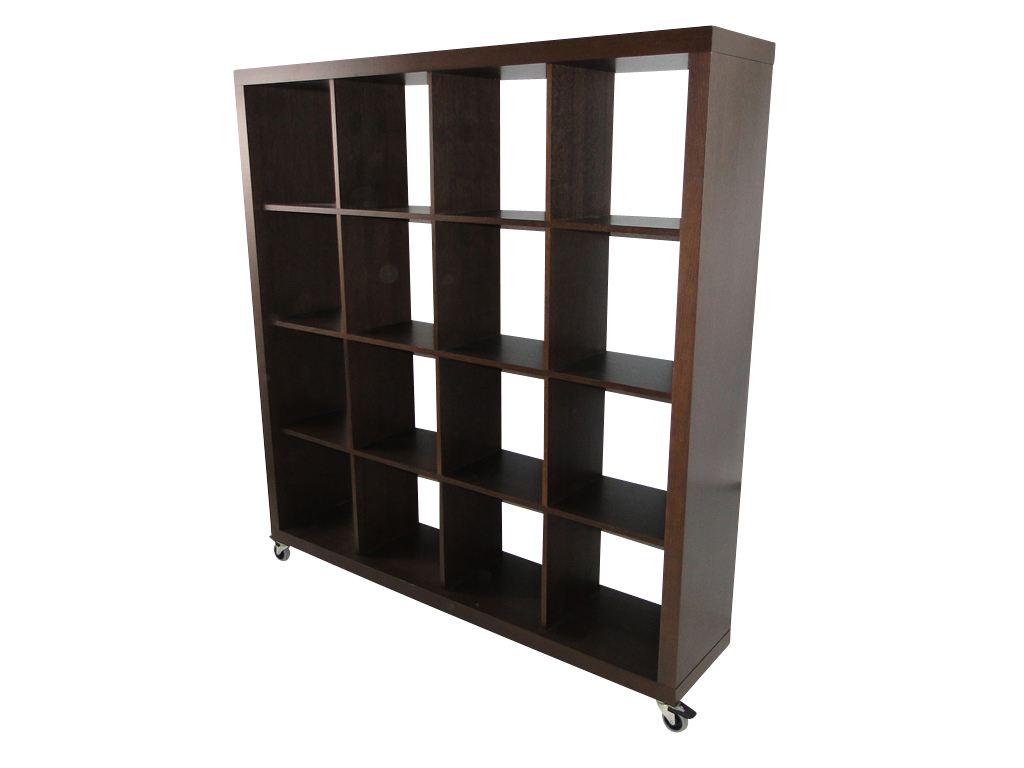 temahome rolly 4x4 regal rollregal rollenregal raumteiler holz braun schoko neu ebay. Black Bedroom Furniture Sets. Home Design Ideas