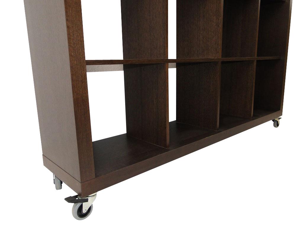 temahome rolly 4x4 regal rollregal rollenregal raumteiler holz braun schoko neu ebay. Black Bedroom Furniture Sets. Home Design Ideas