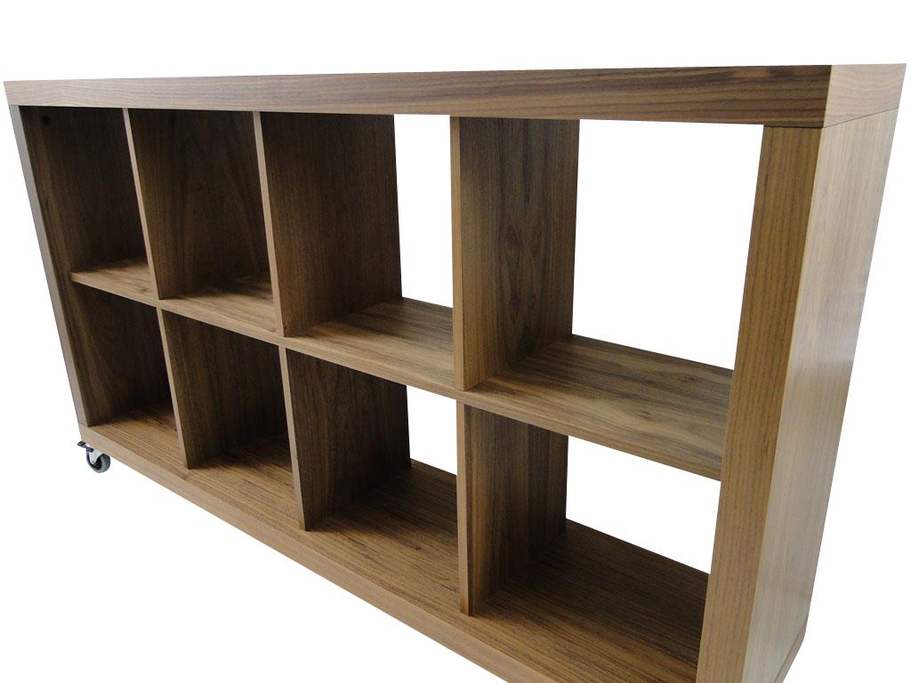 temahome rolly 4x2 regal rollregal rollenregal raumteiler holz nussbaum neu ebay. Black Bedroom Furniture Sets. Home Design Ideas