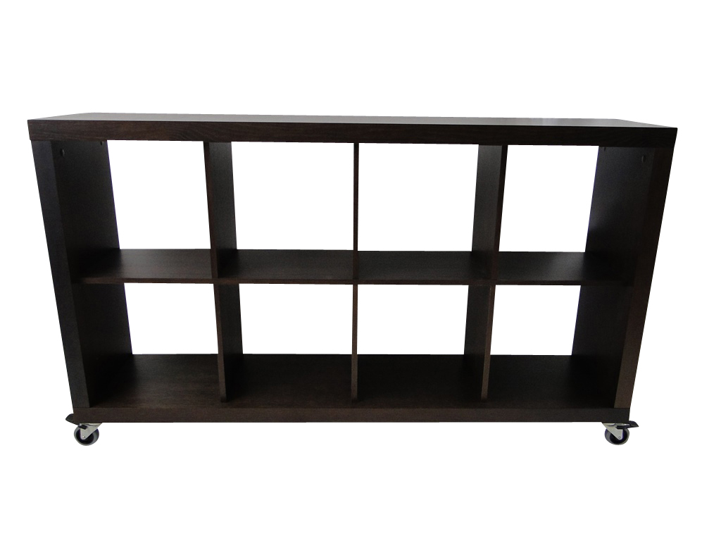 temahome rolly 4x2 regal rollregal rollenregal raumteiler holz braun schoko neu ebay. Black Bedroom Furniture Sets. Home Design Ideas