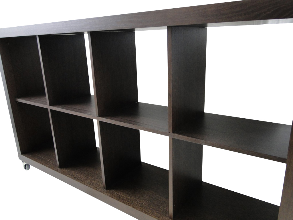 temahome rolly 4x2 regal rollregal rollenregal raumteiler holz braun schoko neu ebay. Black Bedroom Furniture Sets. Home Design Ideas