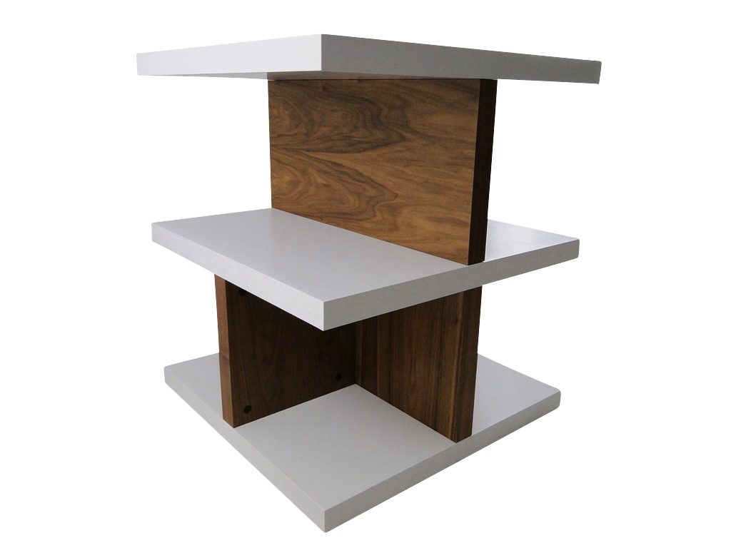 temahome crest b cher regal raumteiler b roregal holz wei nussbaum neu ebay. Black Bedroom Furniture Sets. Home Design Ideas