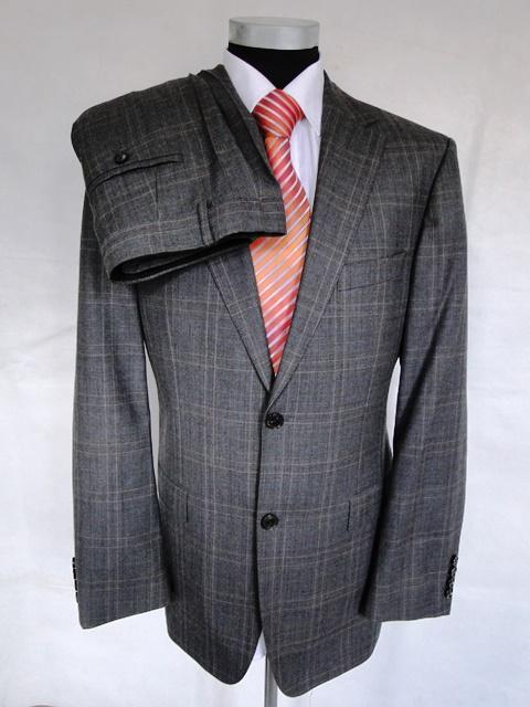 hugo boss anzug bertolucci einreiher grau kariert schurwolle gr 50 ebay. Black Bedroom Furniture Sets. Home Design Ideas