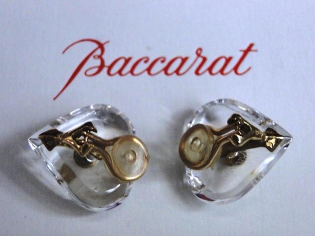 genuine baccarat earclips heart jewellery gold 18 carat crystal handmade new ebay. Black Bedroom Furniture Sets. Home Design Ideas