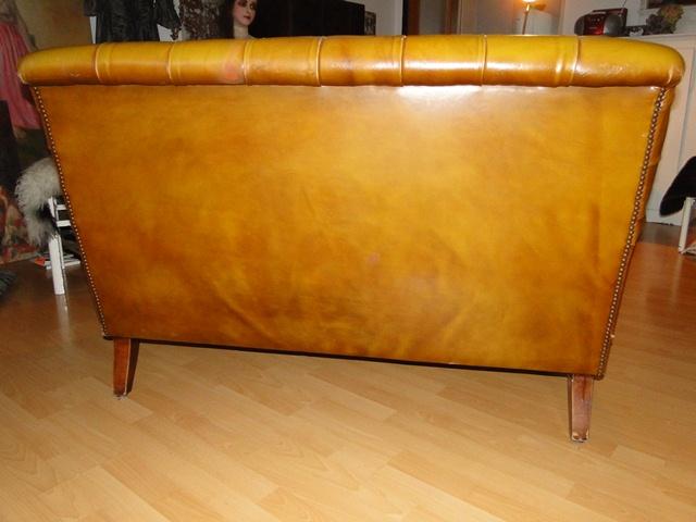 Antikes art deco ledersofa sofa clubsofa chesterfield for Antikes sofa gebraucht